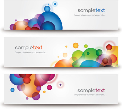 beautiful modern banners vector