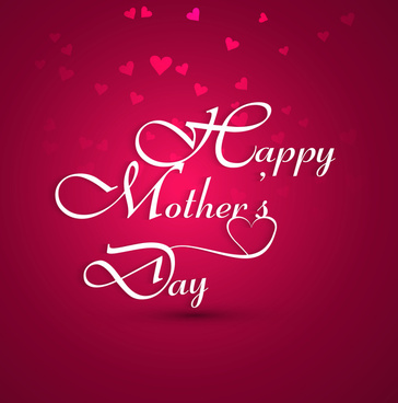 beautiful mothers day card colorful text background illustration