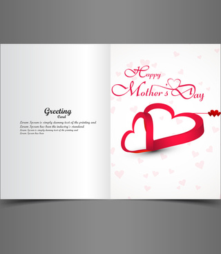 beautiful mothers day greeting card presentation design