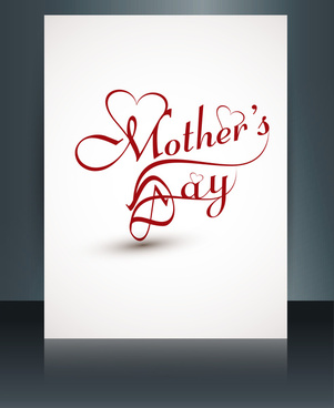 beautiful mothers day template brochure card reflection design