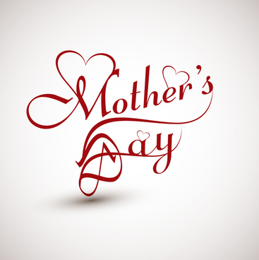 beautiful mothers day text concept card colorful background