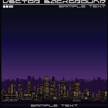 beautiful night city vector graphics
