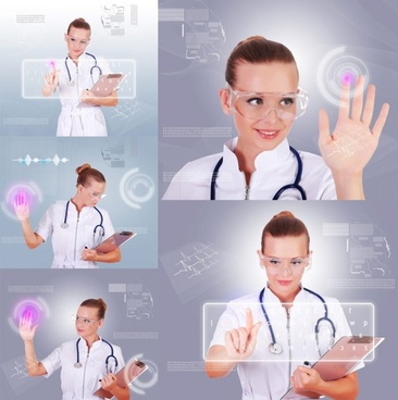 beautiful nurses and a touch screen hd pictures