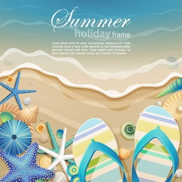 beautiful ocean background cartoon 01 vector