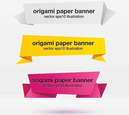 beautiful origami decorative graphics vector 2