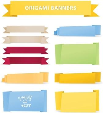 beautiful origami decorative graphics vector 4
