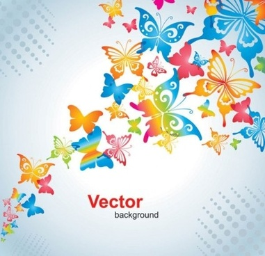 beautiful ornate butterfly background vector