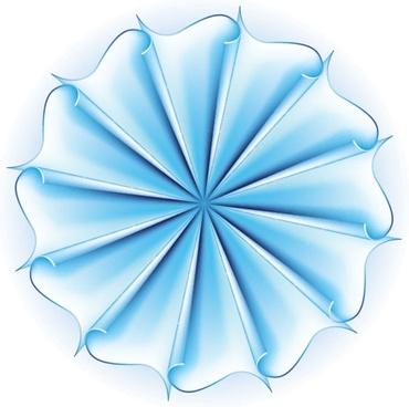 beautiful paper flowers 01 vector