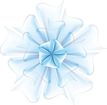 beautiful paper flowers 03 vector
