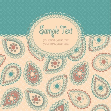 beautiful pattern background 05 vector