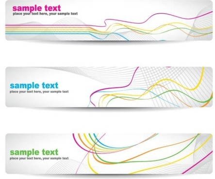 beautiful pattern banner 04 vector