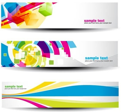 beautiful pattern banner 07 vector
