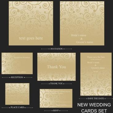 beautiful pattern card 02 vector