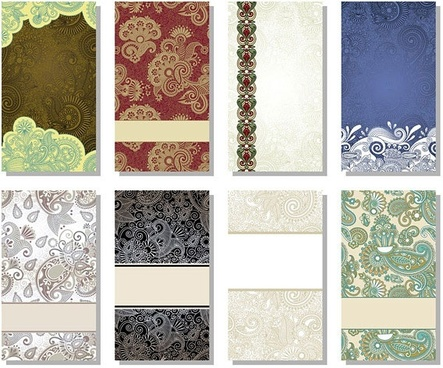 beautiful pattern card background vector 1