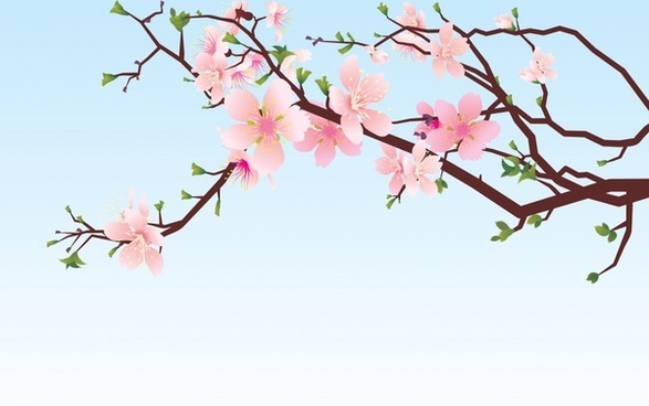 cherry blossom painting colorful oriental decor