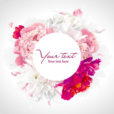 beautiful peony flower vector background graphics