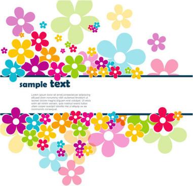 beautiful petal background free vector