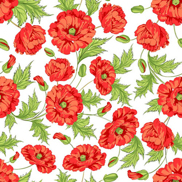 Poppy free vector download 48 free vector for commercial use beautiful poppy seamless pattern set vector mightylinksfo