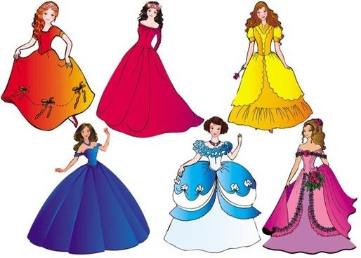 beautiful princess 03 vector