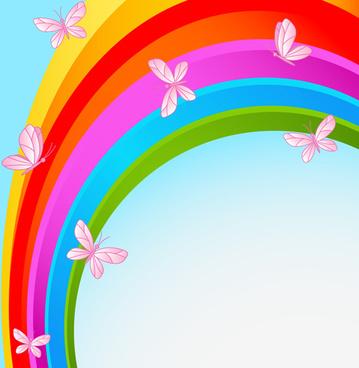 beautiful rainbow colorful bakcgrounds vector