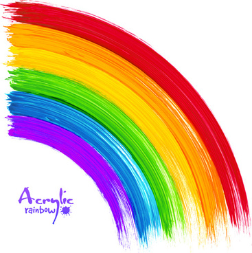 beautiful rainbow paint design vector