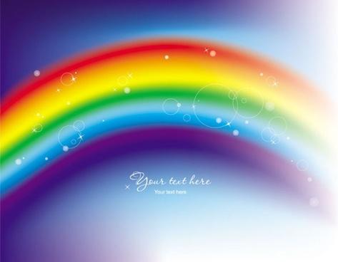 beautiful rainbow symphony 02 vector