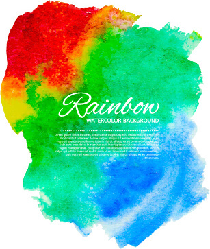 beautiful rainbow watercolor background