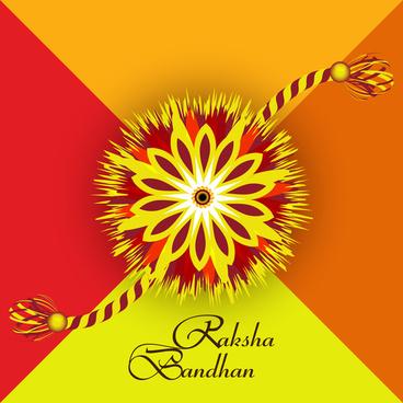 beautiful raksha bandhan background colorful card design
