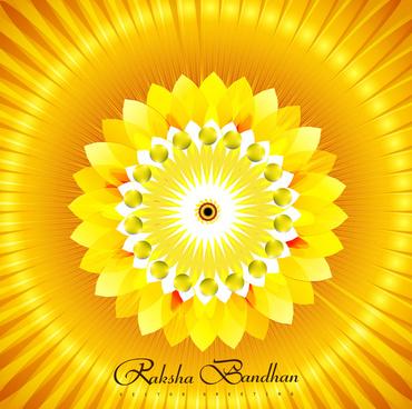 beautiful raksha bandhan bright colorful background