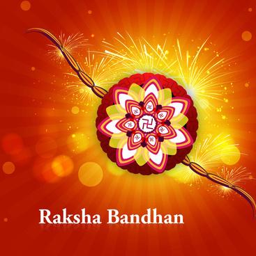 beautiful raksha bandhan hindu festival rakhi background