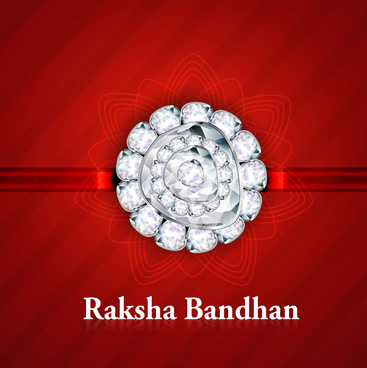 beautiful raksha bandhan indian hindu festival background vector