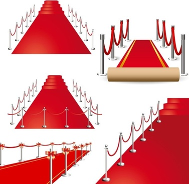 beautiful red carpet vector
