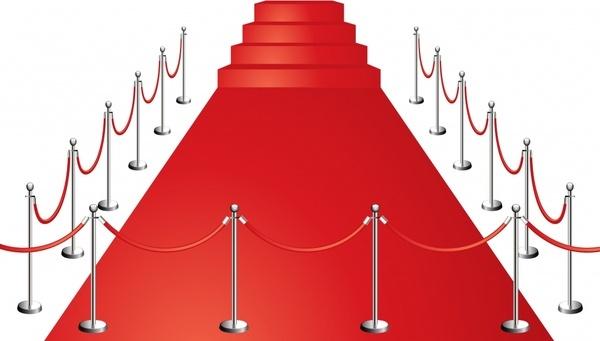red carpet background modern 3d design