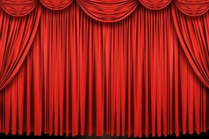 beautiful red curtain picture