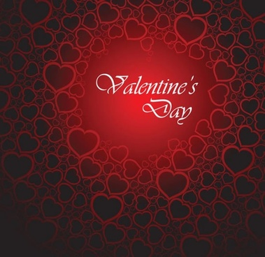 beautiful red heart background vector illustration valentine greeting card