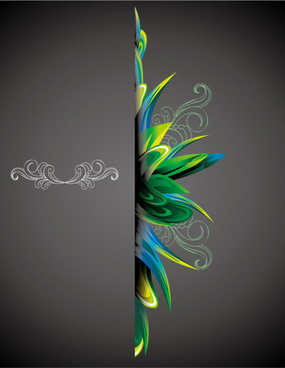 beautiful retro floral with ornament background