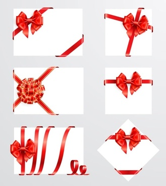 Beautiful ribbon bow 05 vector