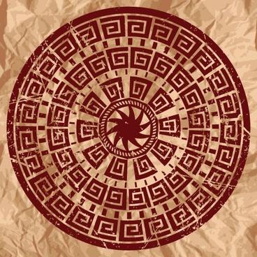 beautiful ring pattern 02 vector