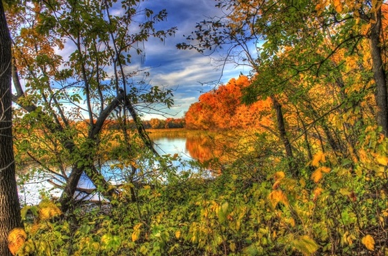 beautiful river scenery at perrot state park wisconsin