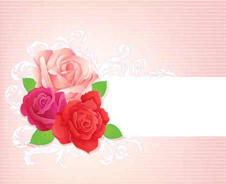 beautiful rose banner vector design