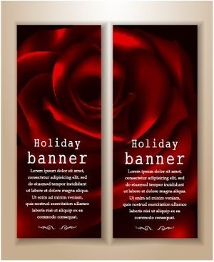 beautiful rose holiday banner vector