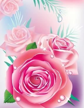 beautiful roses 04 vector