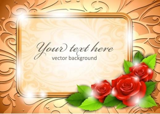 beautiful roses border vector