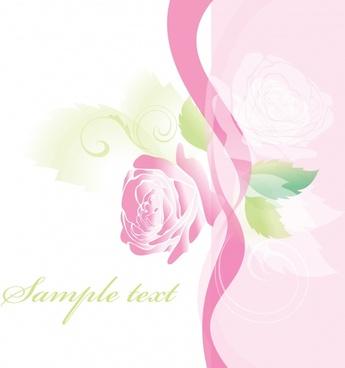 rose background template elegant bright modern blurred decor