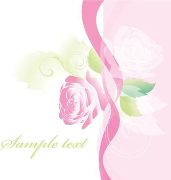 beautiful roses greeting cards 01 vector