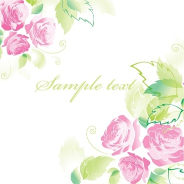 beautiful roses greeting cards 03 vector