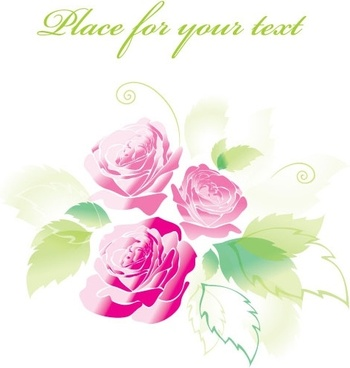 beautiful roses greeting cards 04 vector