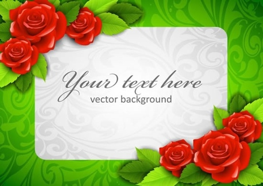 beautiful roses photo frame vector