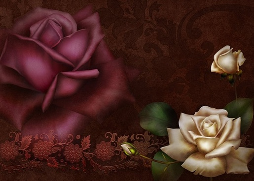 beautiful roses psd
