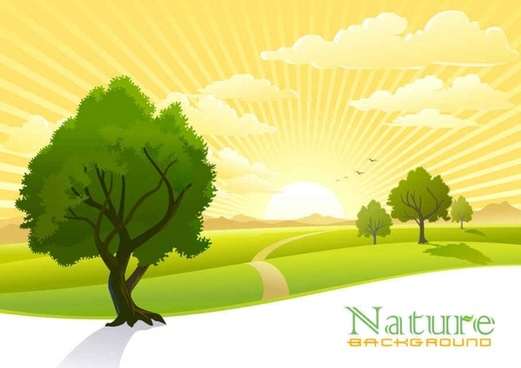 Beautiful scenery vector background
